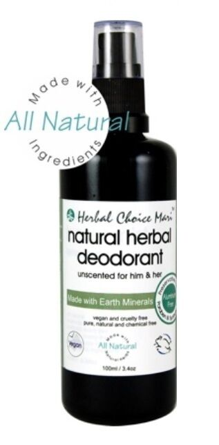 Herbal Choice Mari Natural Deodorant for Him or Her or Unscented