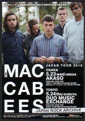 2012 The Maccabees JAPAN tour concert flyer / mini poster / Japanese / photo