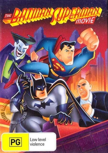 THE BATMAN SUPER-MAN MOVIE Animated : NEW DVD