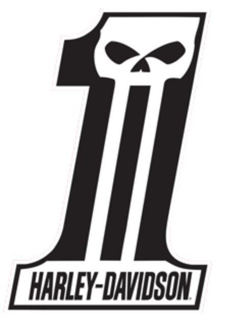 "Harley-Davidson® Dark Custom #1 Logo Die Cut Embossed Tin Sign 11.5""x18"" 2010521"