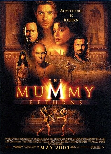 The Mummy Returns movie poster print - The Rock, Dwayne Johnson, Brendan Fraser