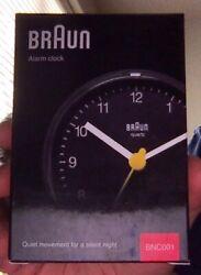 Black Braun Alarm Clock - BNC001 - Excellent condition!