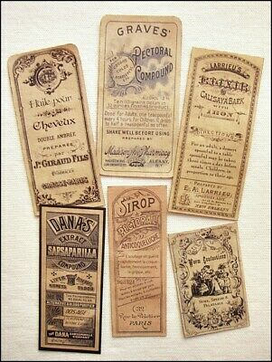 Halloween Elixir Labels (13 ELIXIR SYRUP & REMEDY VINTAGE VICTORIAN APOTHECARY LABELS)