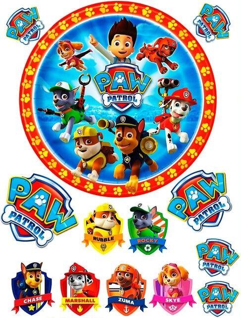 Tortenaufleger---Paw Patrol----Geburtstag--Party--Tortenbild--Fondant //Oblate