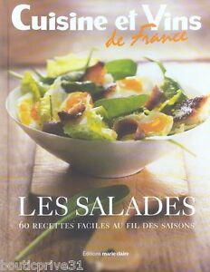 livre de cuisine les salades 60 recettes faciles au fil des saisons ebay. Black Bedroom Furniture Sets. Home Design Ideas
