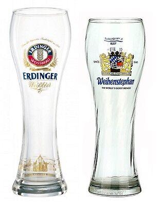 Erdinger & Weihenstephaner Glasses German Beer Glass Sampler Set