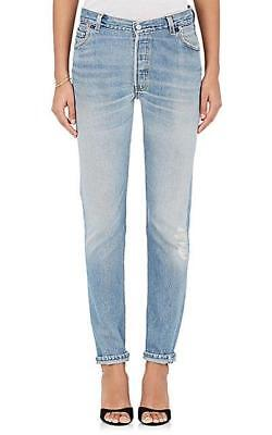 RE/DONE x LEVIS Straight Skinny High-Rise Reconstructed Denim Jeans 24 NEW $305