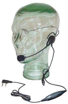 Lightweigh Headset Metal Flex Boom Mic Ptt Relm Rp3 Radios Rp 3600 3000 7500 Ect