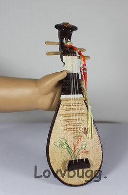 "Lovvbugg Mini Mandolin Instrument for 18"" American Girl Doll Music Accessory"