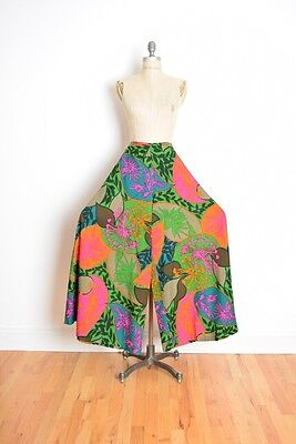 vintage 60s pants wide leg high waist palazzo psychedelic print hippie XS