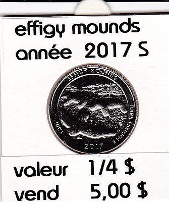 e 1)pieces de 25 cent  effigy mounds   2017  S    voir description
