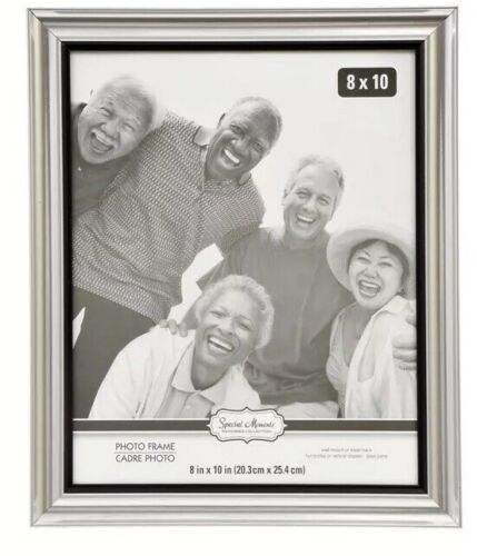 Special Moments Silver Curved Traditional Photo Frames, 8x10