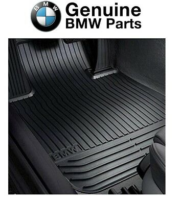 For BMW F07 535i 550i GT xDrive Front Black All Weather Floor Mats Genuine