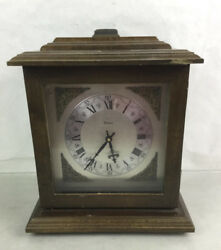 Vtg. Bulova Wood Case Mantel Clock Lot 2423