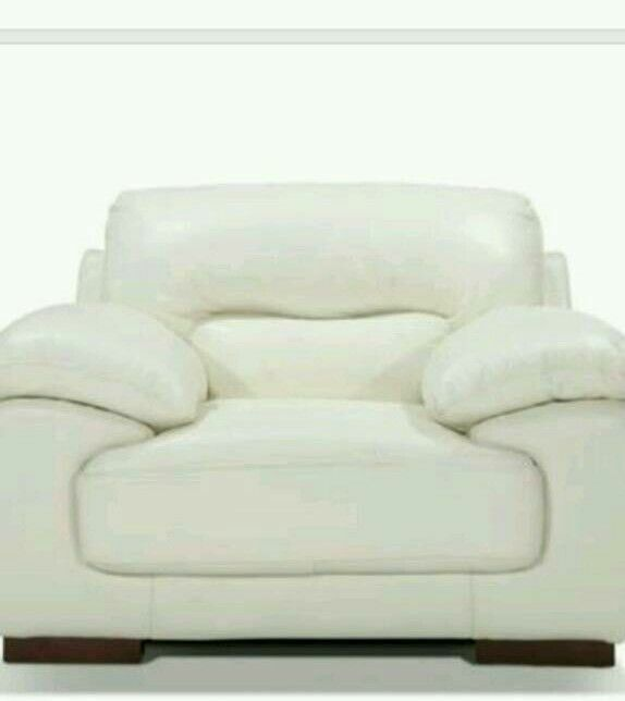 Brand new! Cream leather armchair £135 delivered
