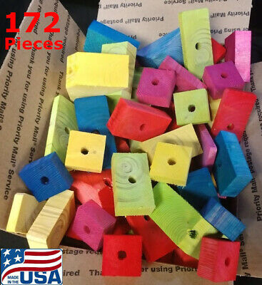 172 Large Wooden Parts for Parrot Toys Bird Toys Macaw Amazon Senegal Cockatoo