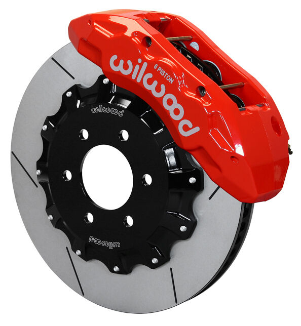 "Wilwood Disc Brake Kit,front,10-15 Ford F-150,15.5"" Rotors,red 6 Piston Calipers"