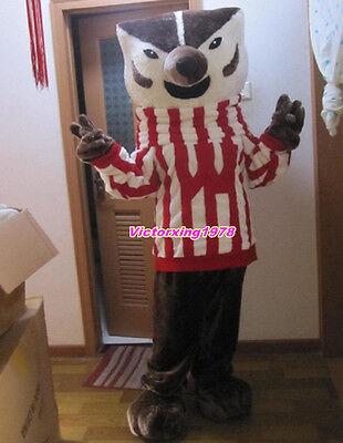New Fashion Mr Fox Mascot Costume Wisconsin Bucky Badger Costume Free Shipping](Badger Mascot Costume)