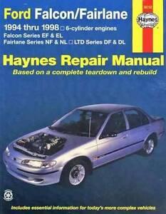 Ford Falcon & Fairlane 1994 - 1998 Haynes Owners Service & Repair Blacktown Blacktown Area Preview
