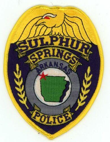 SULPHUR SPRINGS POLICE ARKANSAS AR NICE COLORFUL PATCH SHERIFF