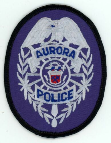 AURORA POLICE COLORADO CO   JUST UNDER 4 INCH PATCH SHERIFF