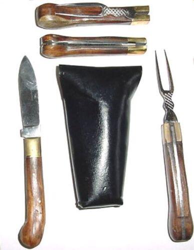 FoldingFork&Knife OfficersTravelingSet18thCentury Repro