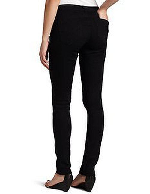 New Womens Calvin Klein POWER STRETCH Straight Leg Black Dark Blue