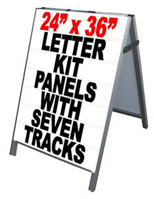 Aluminum A-frame 24x36 Double Sided Sidewalk Sign Wtracks Letters