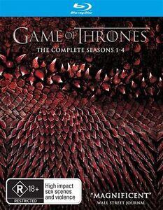 Game of Thrones Complete Series Season 1, 2, 3 & 4 Blu ray Box Set 1 - 4 New RB