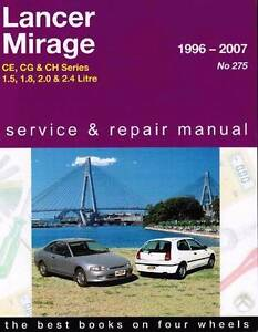 Mitsubishi Lancer & Mirage CE, CG & CH Series 1996 - 2007 Manual Blacktown Blacktown Area Preview