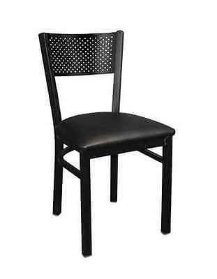 Lot 20 Metal Frame Grid Back Restaurant Chairs With 4 Vinyl Seat Color Options