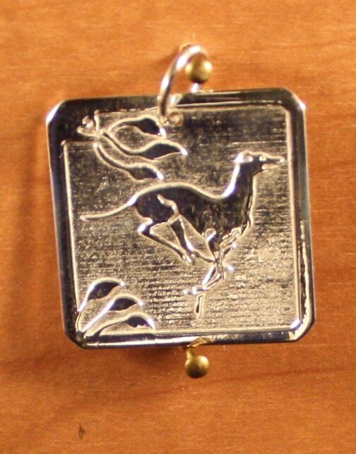 Greyhound/Whippet/I.G.  8 g Sterling Silver Pendant