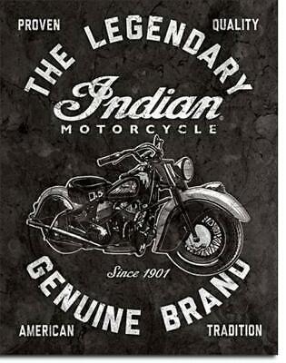 Indian Motorcycle - American Tradition -  USA Motorrad Legenden Metall Schild