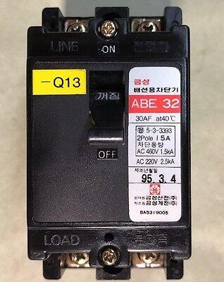Mitsubishi 15A CIRCUIT BREAKER ABE32 2-Pole ABE 32 CLEAN FAST SHIPPING