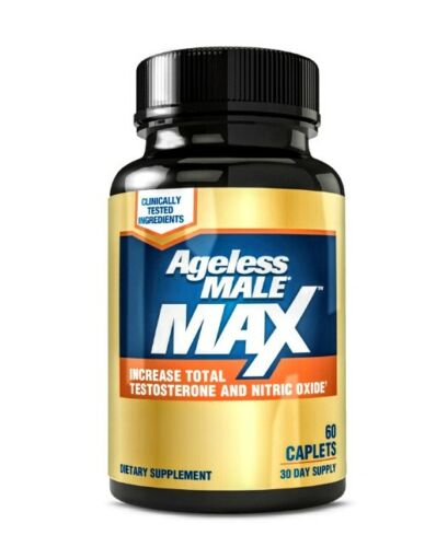 (2)PACK Ageless Male Max Testosterone Booster New Vitality 120 Caps Ships Free