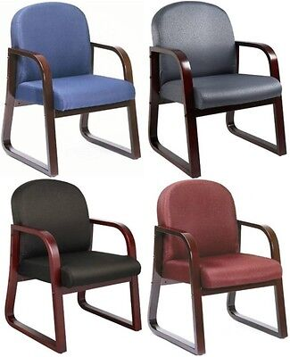 - Side Office Lobby Visitor Arm Chairs Task Mahogany Guest Chair Black Blue Gray