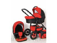 Buggy £60 red carry cot and pushchair