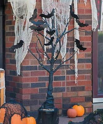 Halloween Haunted House Lighted Spooky Bat Tree Decoration Indoor Outdoor 39