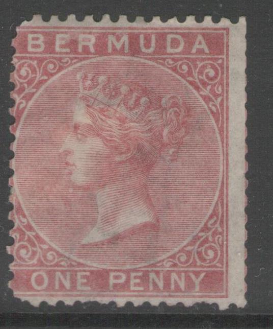 BERMUDA SG1 1865 1d ROSE-RED UNUSED