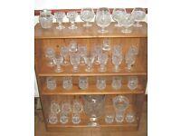 Tyrone Crystal COLLECTION Slieve Donard 36 Glasses, biscuit barrel, bowl, candlesticks, jam jar etc
