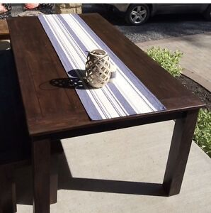 Rustic Country Chic Harvest Table with matching bench Belleville Belleville Area image 9