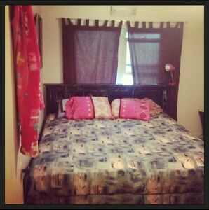 King bed. Frame , headboard and box spring !