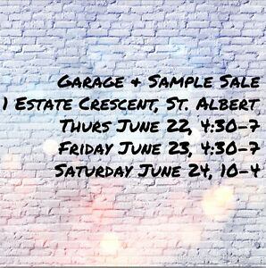 Garage & sample sale * starting early today