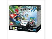 Wii u console with Marino kart 8 new in sealed box