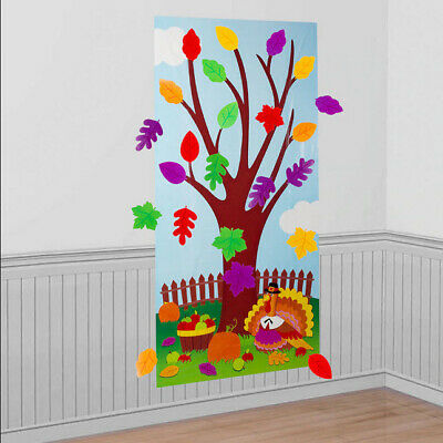 Fall Scene Setters (THANKSGIVING ACTIVITY TREE Scene Setter FALL party School Give Thanks)