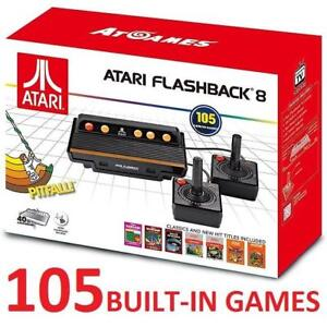 NEW ATARI FLASHBACK 8 CONSOLE 168158566 105 BUILT IN VIDEO GAMES SYSTEM