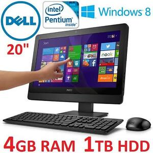 "USED DELL INSPIRON 20 AIO DESKTOP - 119353951 - 20"" TOUCHSCREEN INTEL PENTIUM G3240T 4GB RAM 1TB HDD WIN8 ALL IN ONE ..."