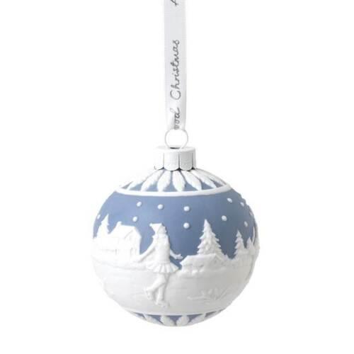 WEDGWOOD Christmas 2020 Skating Bauble Ornament New 1051650
