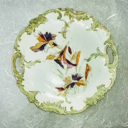 "Antique RS Prussia Rare Cake Plate Handles 1904 no mark 11"""