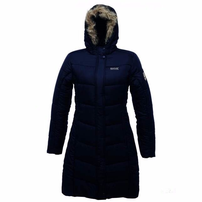 Ladies' Blissful Professional Quilted Coat/Jacket Navy-Size 18 (can post by Royal Mail)